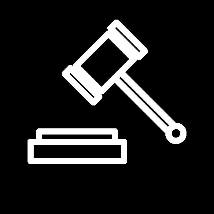 Pictogramme représentant le marteau de la justice : les solutions ADIPSYS vous permettent de respecter la législations