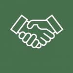 Pictogramme représentant une poignée de main entre deux hommes