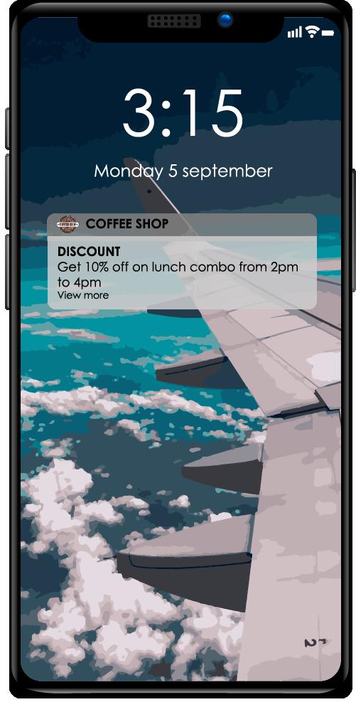 notification on iphone X wifi customer experience