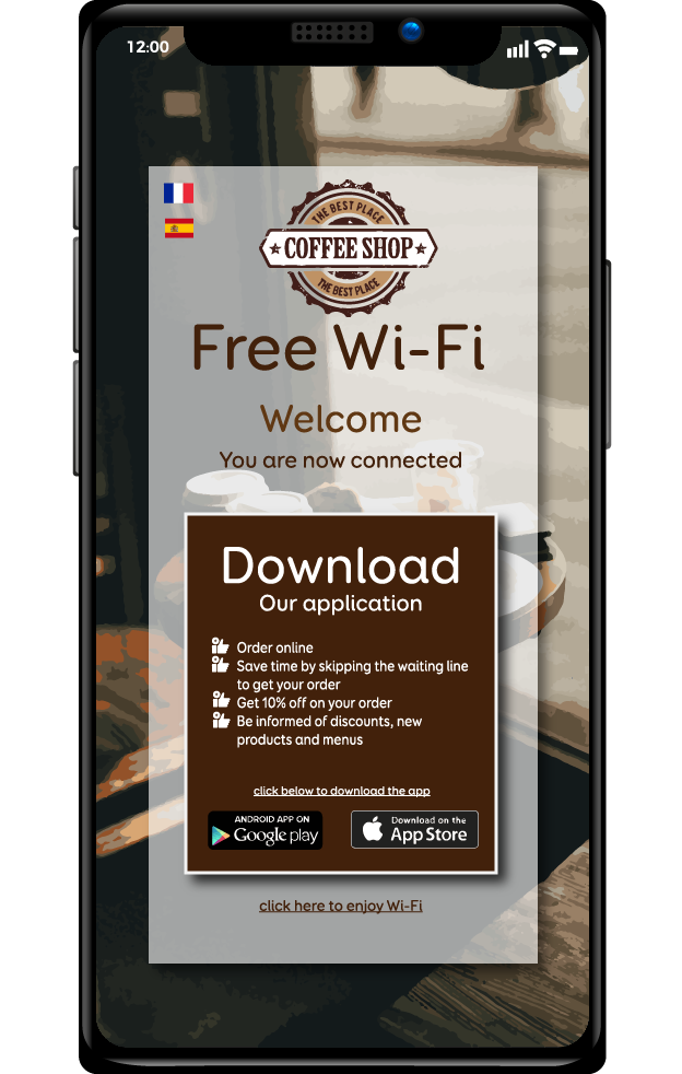 captive portal - download app - ADIPSYS