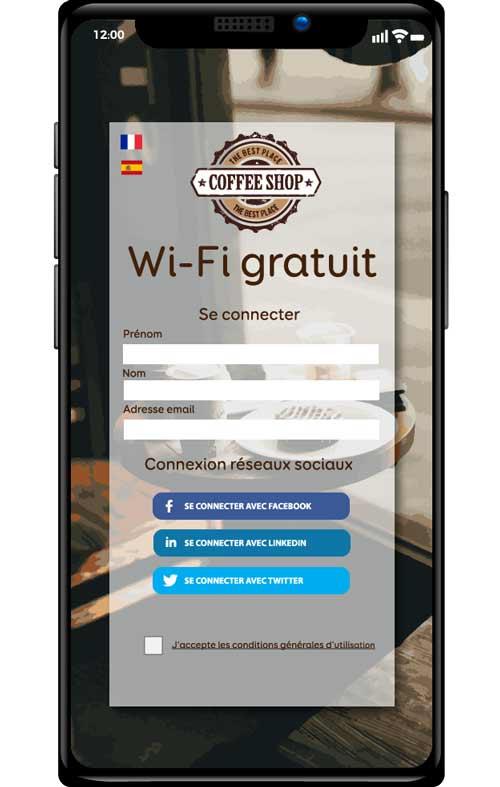 iphone avec un exemple de portail captif